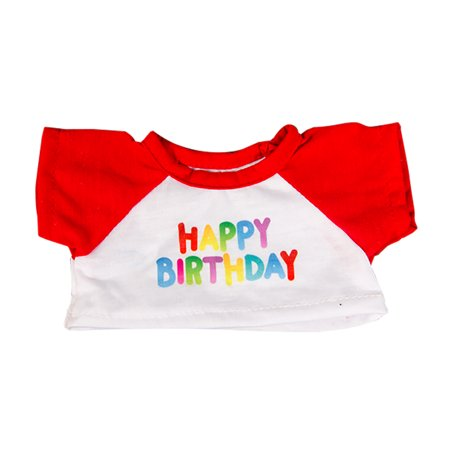 Happy Birthday T-Shirt w/Red Fits Most 8