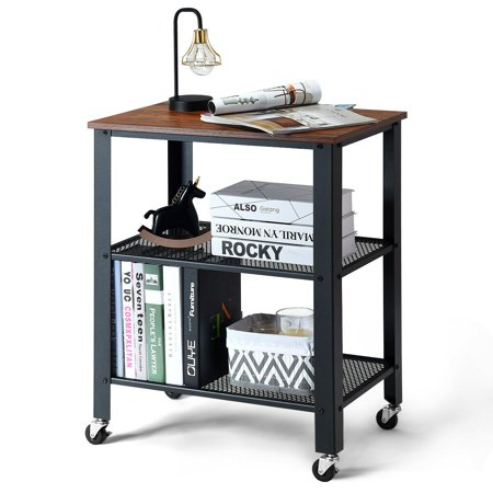 Gymax Industrial Serving Cart 3-Tier Kitchen Utility Cart Now $74.99 (Was $180)