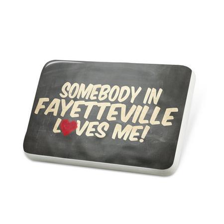 Porcelein Pin Somebody in Fayetteville Loves me, Arkansas Lapel Badge – NEONBLOND](Halloween Fayetteville Arkansas)