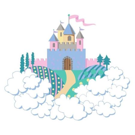 Mini princess castle wall mural for Disney princess mini mural