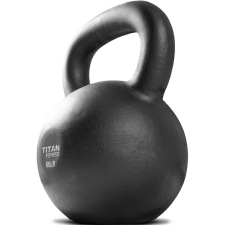 Titan Fitness Cast Iron Kettlebell Weight, 60 lb