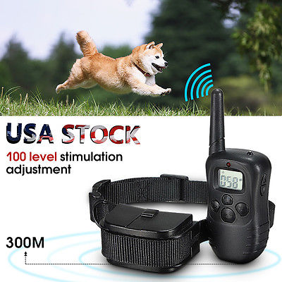 Newest Pet Dog Training Collar Remote LCD 100LV 300M Electric Shock Vibrate