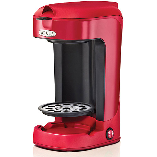 The coffee maker is simple to operate, too. There's one button, that's it. It's more of a switch that's small, round, and button-shaped. Flipping it on kick-starts the brewing process.