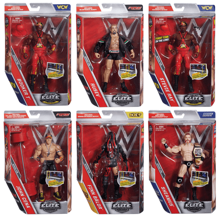 WWE Elite Collection Series #46 | John Cena - Demon Finn Balor - Sheamus - Rusev - Harlem Heat Booker T - Stevie Ray | Deluxe Wrestling Action Figure Toy