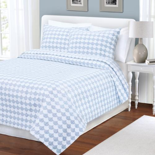 LaMont Home Finley Collection Coverlet King Sham Blue/White