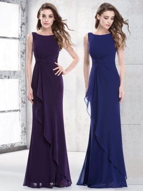b7218542572 Product Image Ever-Pretty Womens Elegant Ruched Waist Evening Party  Bridesmaid Dresses for Women 08796 Navy Blue