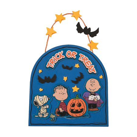 Halloween Can Crafts (IN-13703202 Peanuts Halloween Sign Craft Kit Makes)