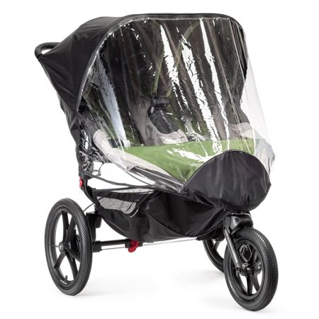 Baby Jogger Summit X3 Double Weather Shield Rain Canopy Stroller Cover, Clear