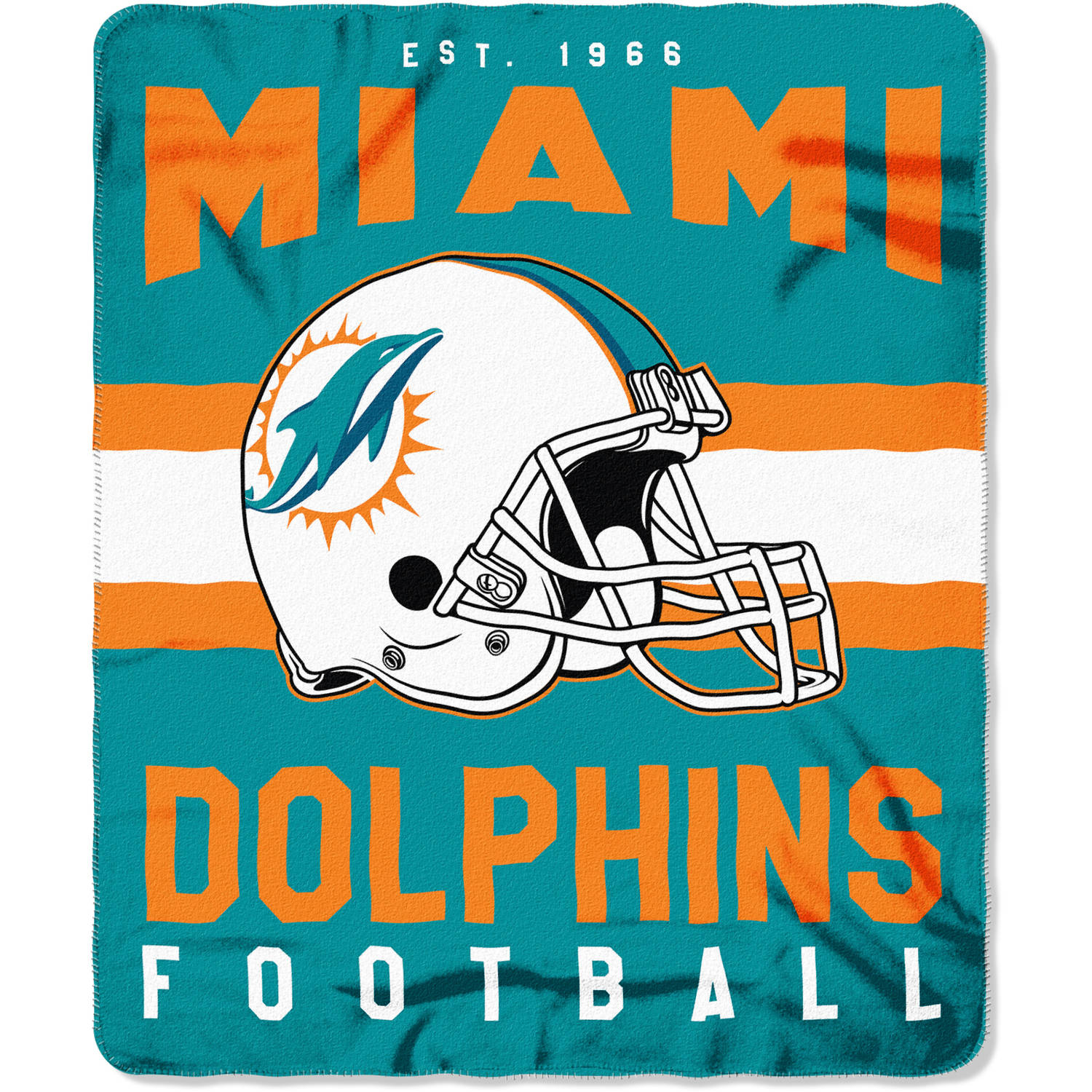 "NFL Miami Dolphins ""Singular"" 50"" x 60"" Fleece Throw"