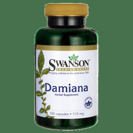 Swanson Damiana 510 mg 100 Caps Damiana Leaves 100 Capsules