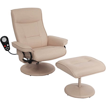 Parchment massage chair and ottoman walmartcom for Chair massage dc