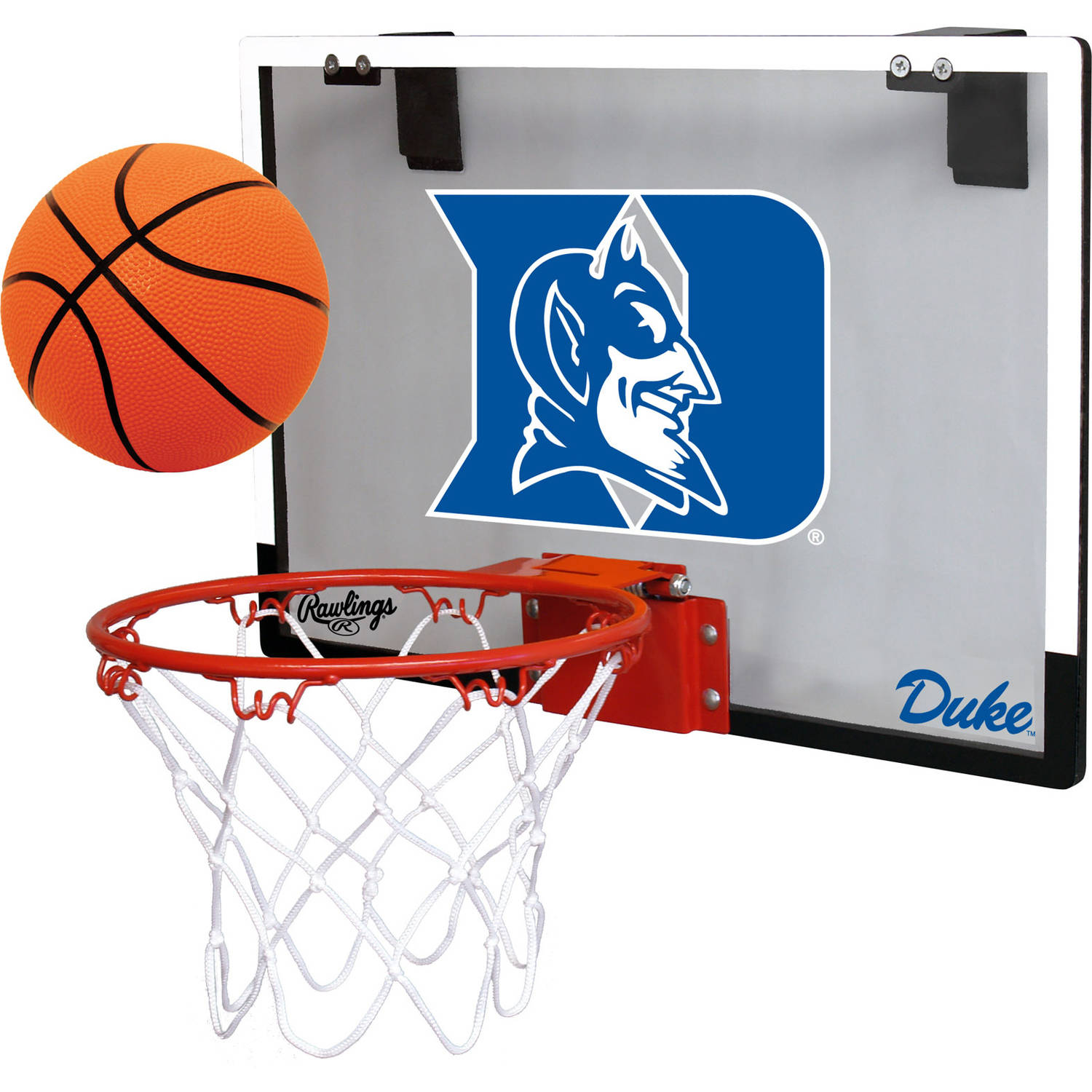 Rawlings NCAA Polycarbonate Hoop Set Duke University Blue Devils