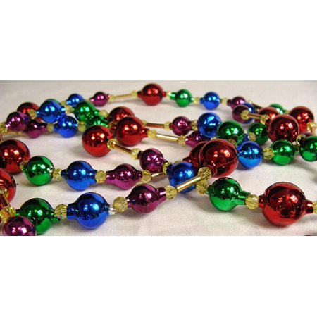 Christmas Ball Garlands.Glass Bead Multicolored Christmas Garlands 6