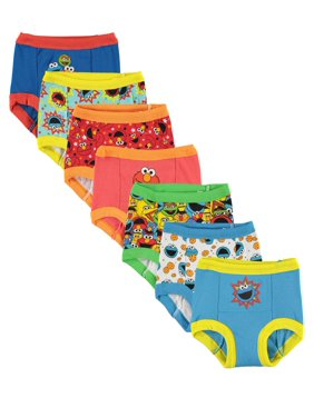 Sesame Street Toddler Boys Training Pants, 7-Pack