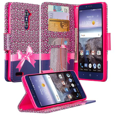 new style 7e578 d50a6 ZTE ZMAX Pro Case | ZTE Grand X Max 2 Case | ZTE Imperial Max Case | Max  Duo Pu Leather Magnetic Fold[Kickstand] Wallet Case with ID & Card Slots -  ...