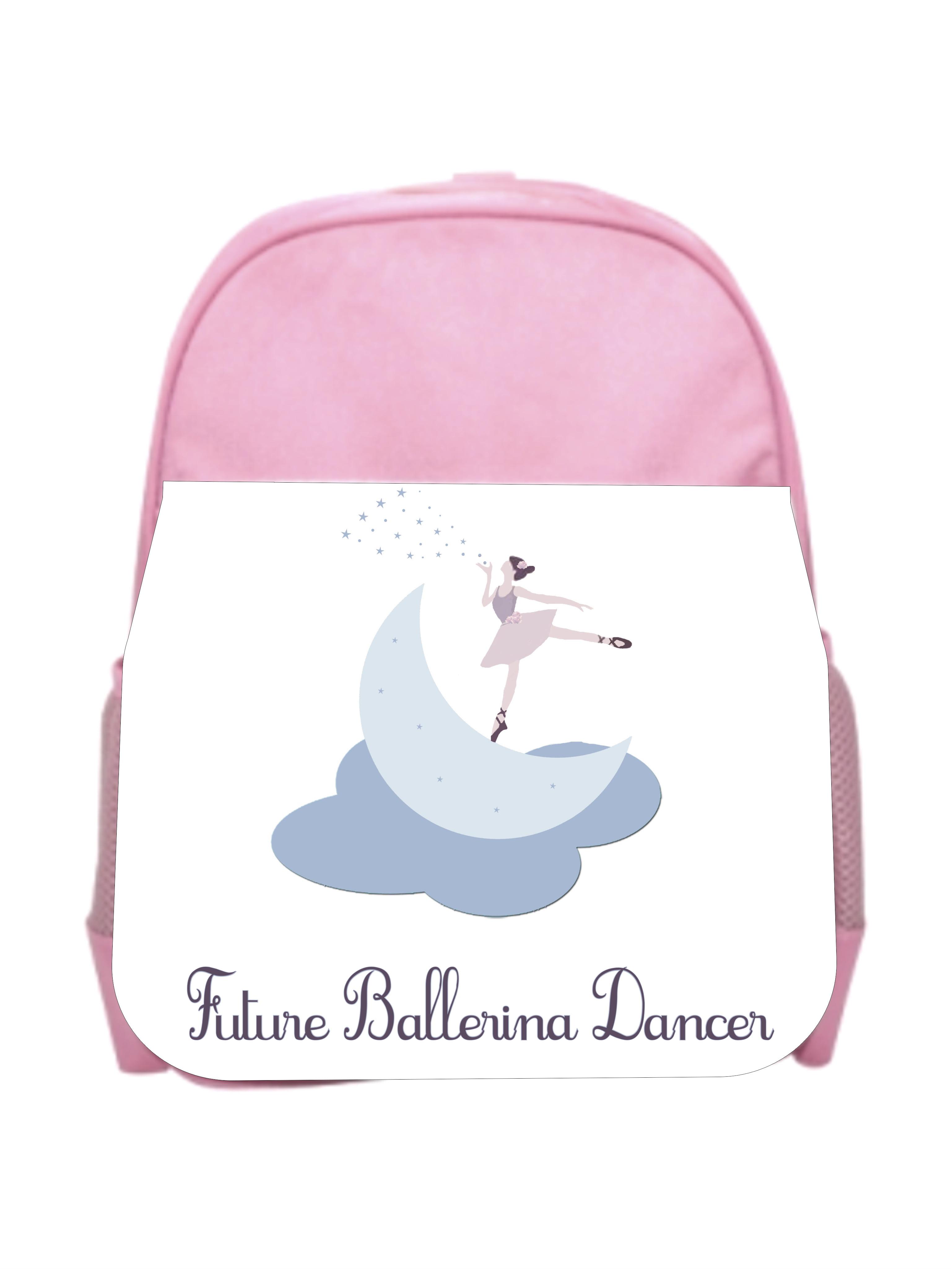 Future Ballerina Pink Girls Preschool Toddler Backpack /& Lunch Box Set