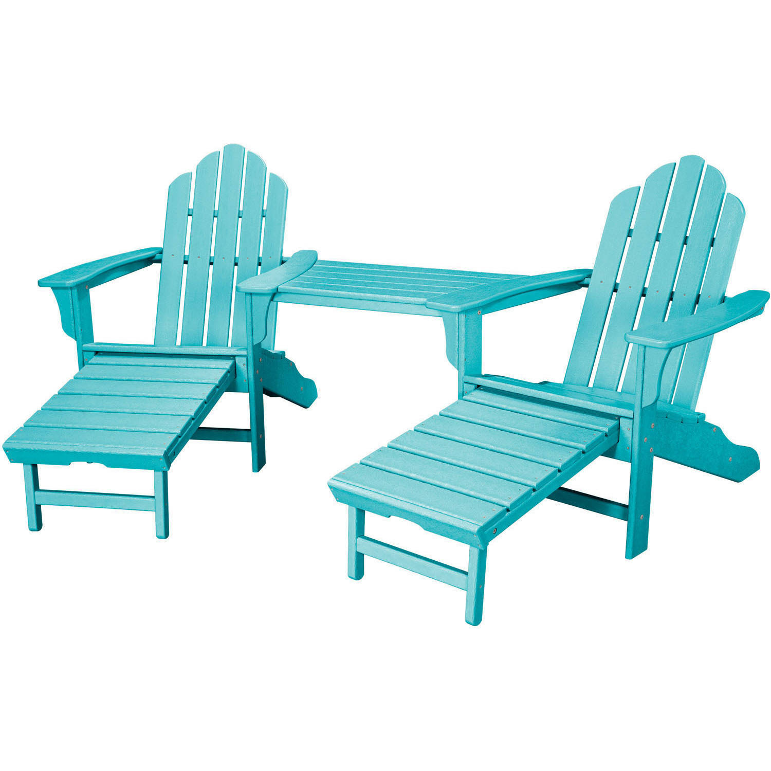 Hanover Outdoor Rio 3-Piece All-Weather Chat Set with Hideaway Ottoman