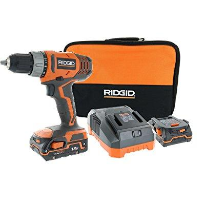 Ridgid R860052K 18-Volt Lithium-Ion 1/2 in. Compact Cordless Driver Drill Kit with 2