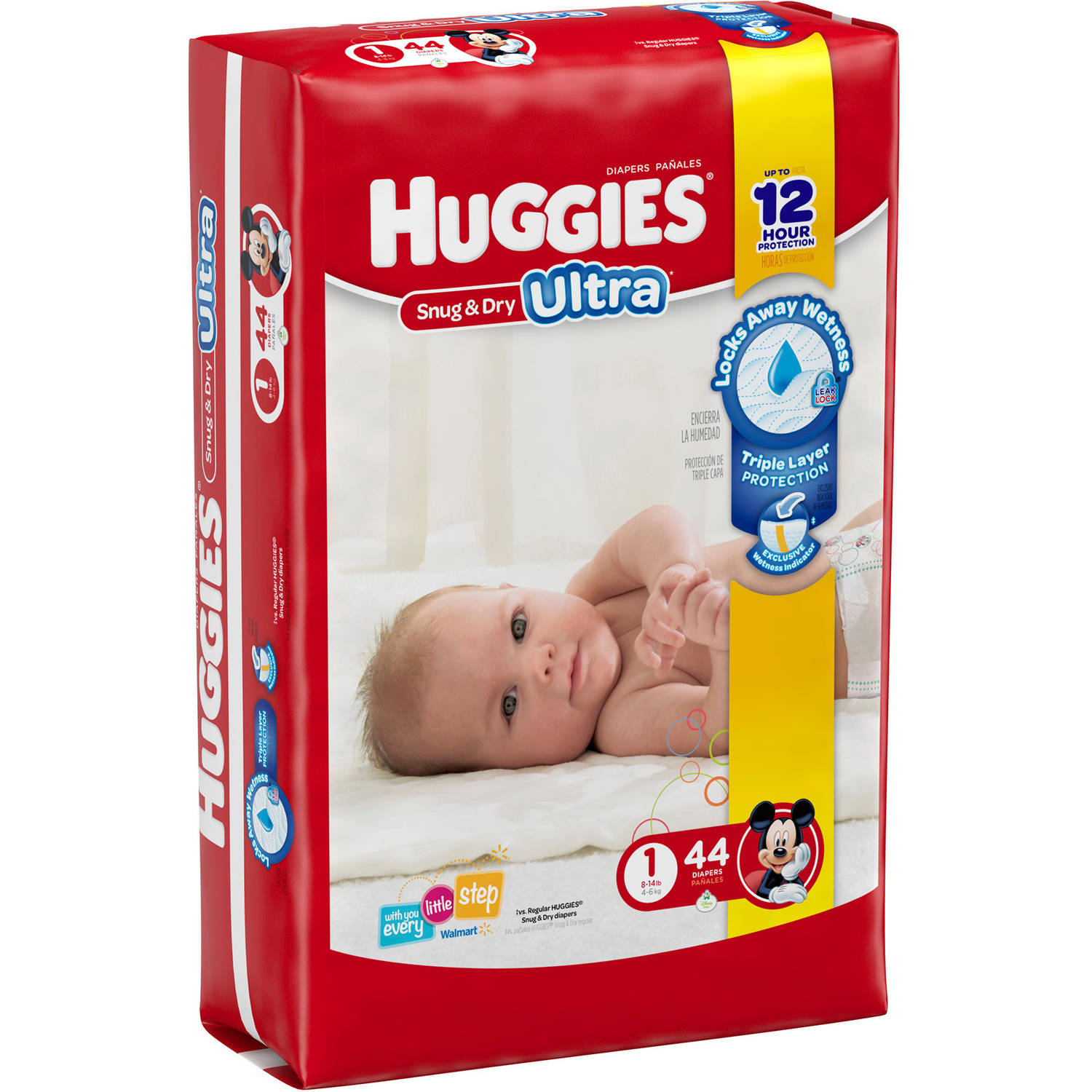 HUGGIES Snug & Dry ULTRA Diapers, Jumbo Pack, (Choose Your Size)