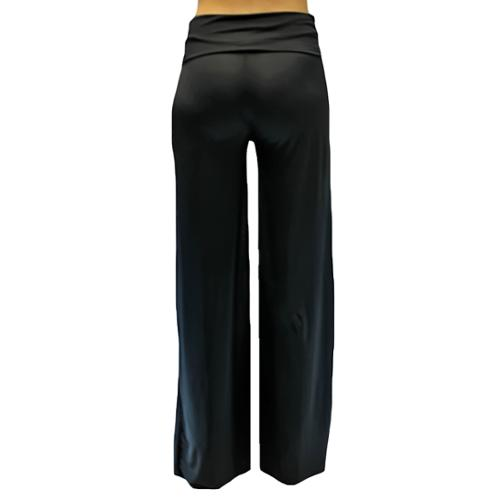 Luxury Divas Black Long Gaucho Boho Flare Palazzo Stretchy Pants ...