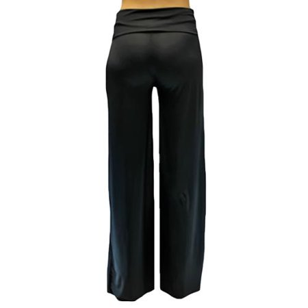 Luxury Divas Black Long Gaucho Boho Flare Palazzo Stretchy Pants ...