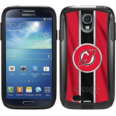 New Jersey Devils Ipod Skin (New Jersey Devils Jersey Stripe Design on OtterBox Commuter Series Case for Samsung Galaxy S4 )