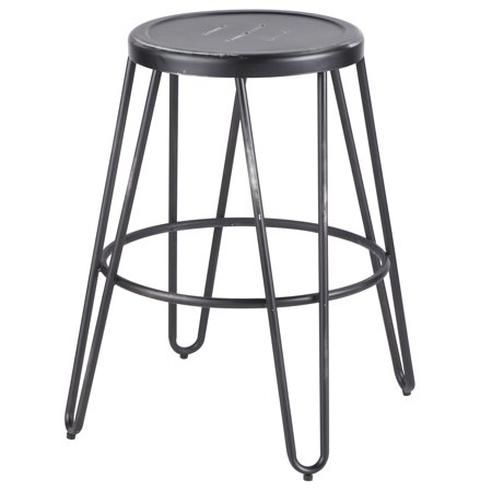 Peachy Avery Industrial Metal Counter Stool In Vintage Black By Lumisource Set Of 2 Gmtry Best Dining Table And Chair Ideas Images Gmtryco