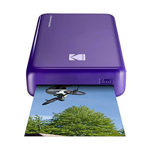Kodak Mini2 Instant Photo Printer + Deluxe Case 7 Fun Sticker Sets 20 Sheets Gift Bundle Paper Hanging Frames Black Twin Tip Markers Photo Album