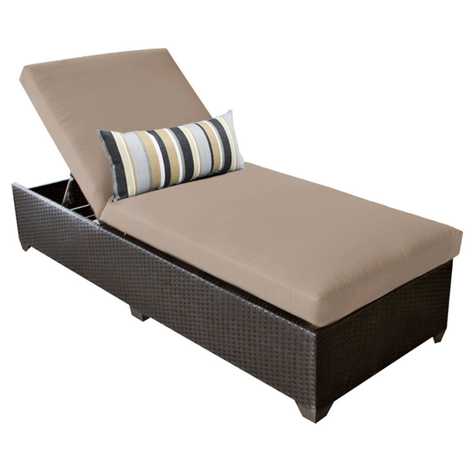 TK Classics Belle Wicker Outdoor Chaise Lounge