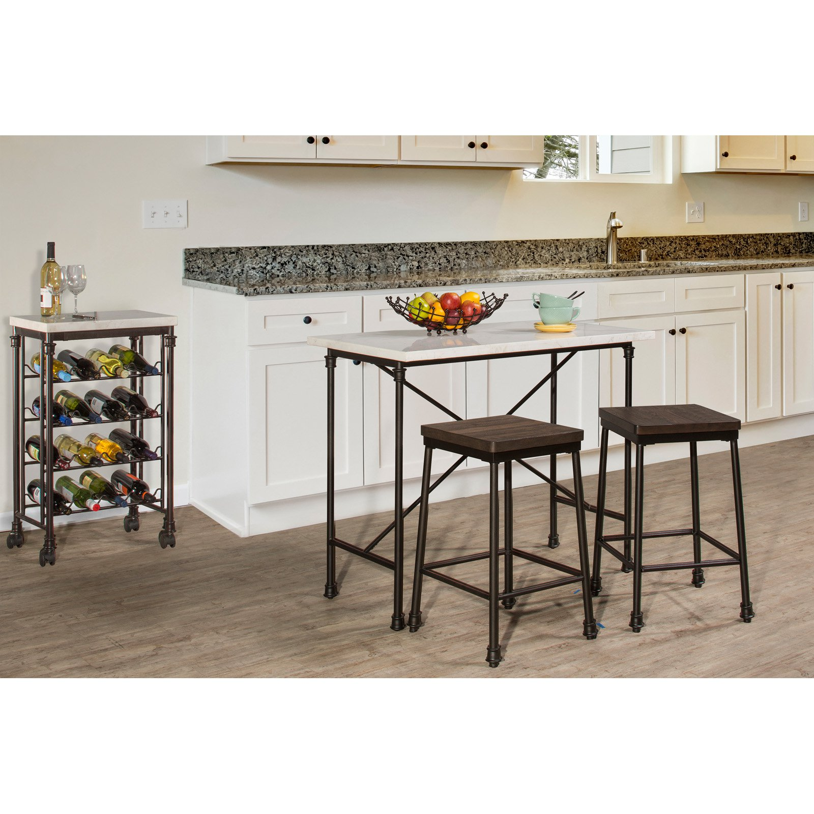 Hillsdale Furniture Castille Three (3) Piece Counter Height Set