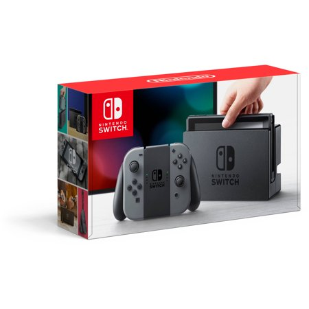 Nintendo Switch Gaming Console With Gray Joy Con