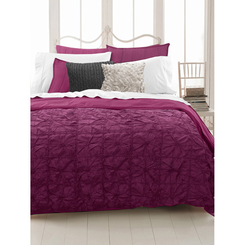 East End Living Knotted Squares Bedding Duvet Set, Berry, Full