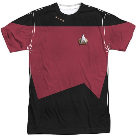 Star Trek Men's  Tng Command Uniform Sublimation T-shirt White - Star Trek 2 Uniform
