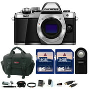 Olympus OM-D E-M10 Mark II 16.1MP Mirrorless Digital Camera (Body, Silver) w/ 16 GB Accessory Bundle
