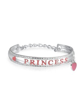3acec901a Product Image Small Pink Princess Message Word Heart Dangle Charm Bangle  Cuff Bracelet 925 Sterling Silver. Product TitleBling JewelrySmall ...