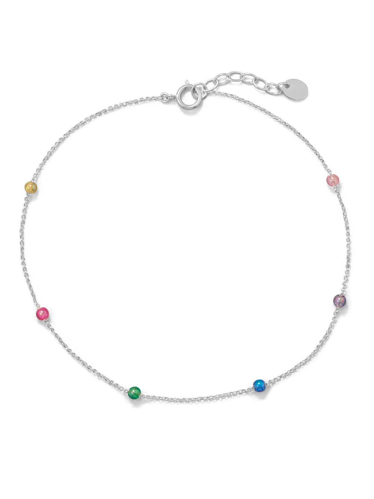 Spring is coming beaded anklet!