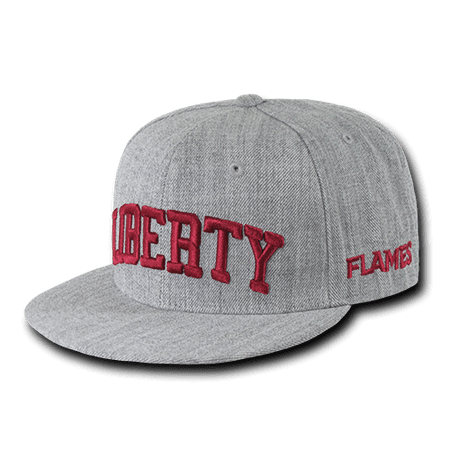NCAA Liberty University Flames 6 Panel Game Day Snapback Caps Hats Heather Grey](Statue Of Liberty Hats)