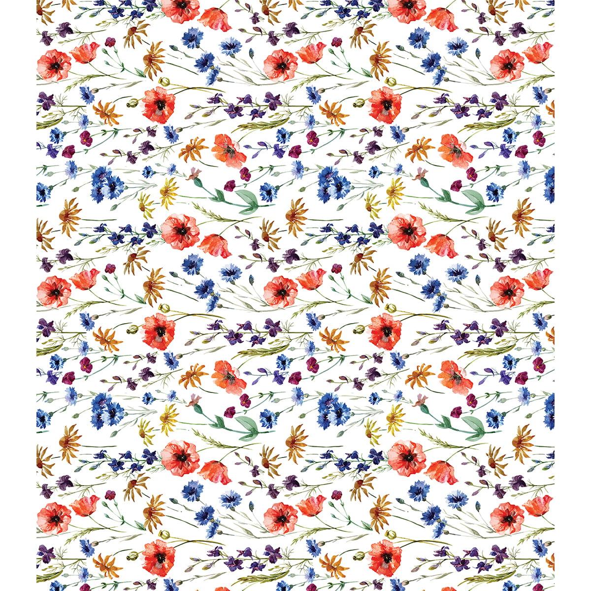 "Craft Consortium Decoupage Papers 13.75""X15.75"" 3/Pkg-Wildflowers"
