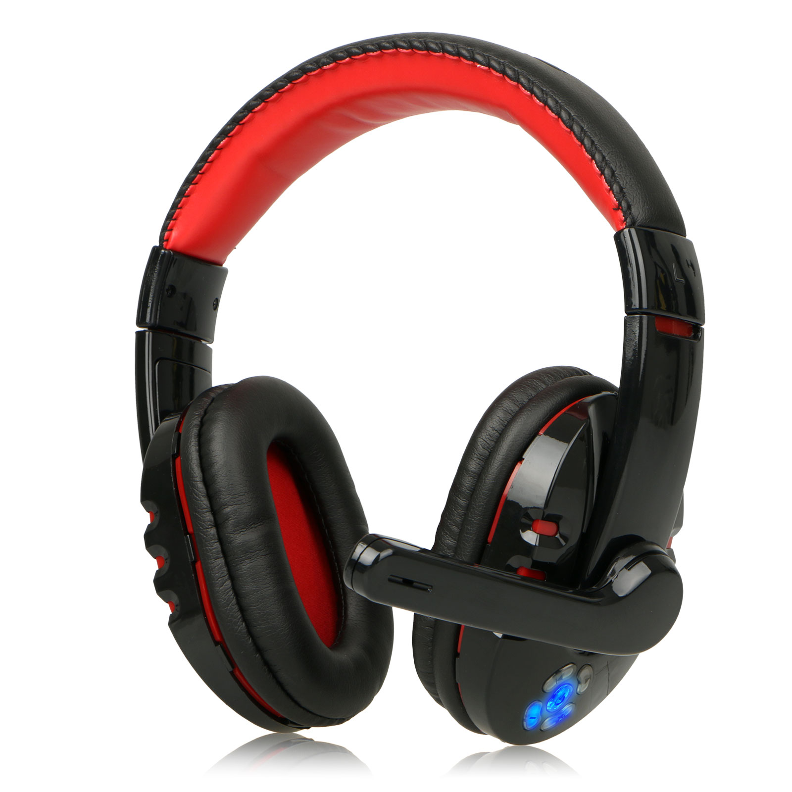 V8 Gaming Headsets, Wireless Bluetooth 4.2 Game Headphones with Mic Earphones Adjustable Headband for PC Tablet Smartphone