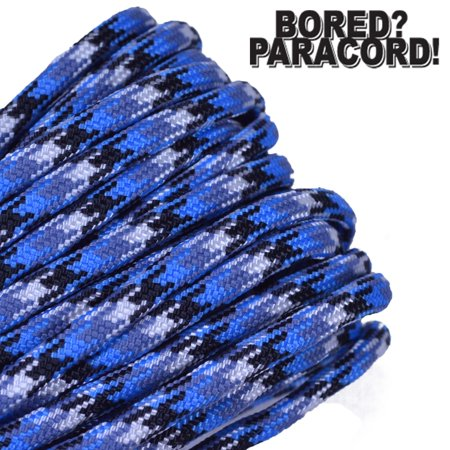 Bored Paracord Brand 550 lb Type III Paracord - Blue Snake 10 Feet - Blue Paracord