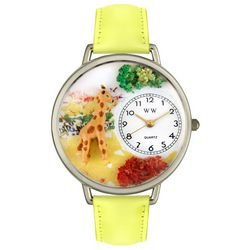 Whimsical Watches Unisex Bulldog Photo Watch with Black Leather