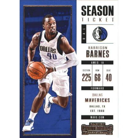 - 2017-18 Panini Contenders Season Ticket #46 Harrison Barnes Dallas Mavericks Basketball Card
