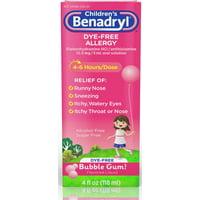 2 Pack - Children's Dye-Free Allergy Liquid, Bubble Gum 4 oz