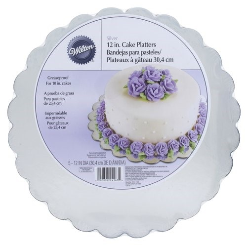 Wilton Cake Platters, Silver, 12 in, 5ct
