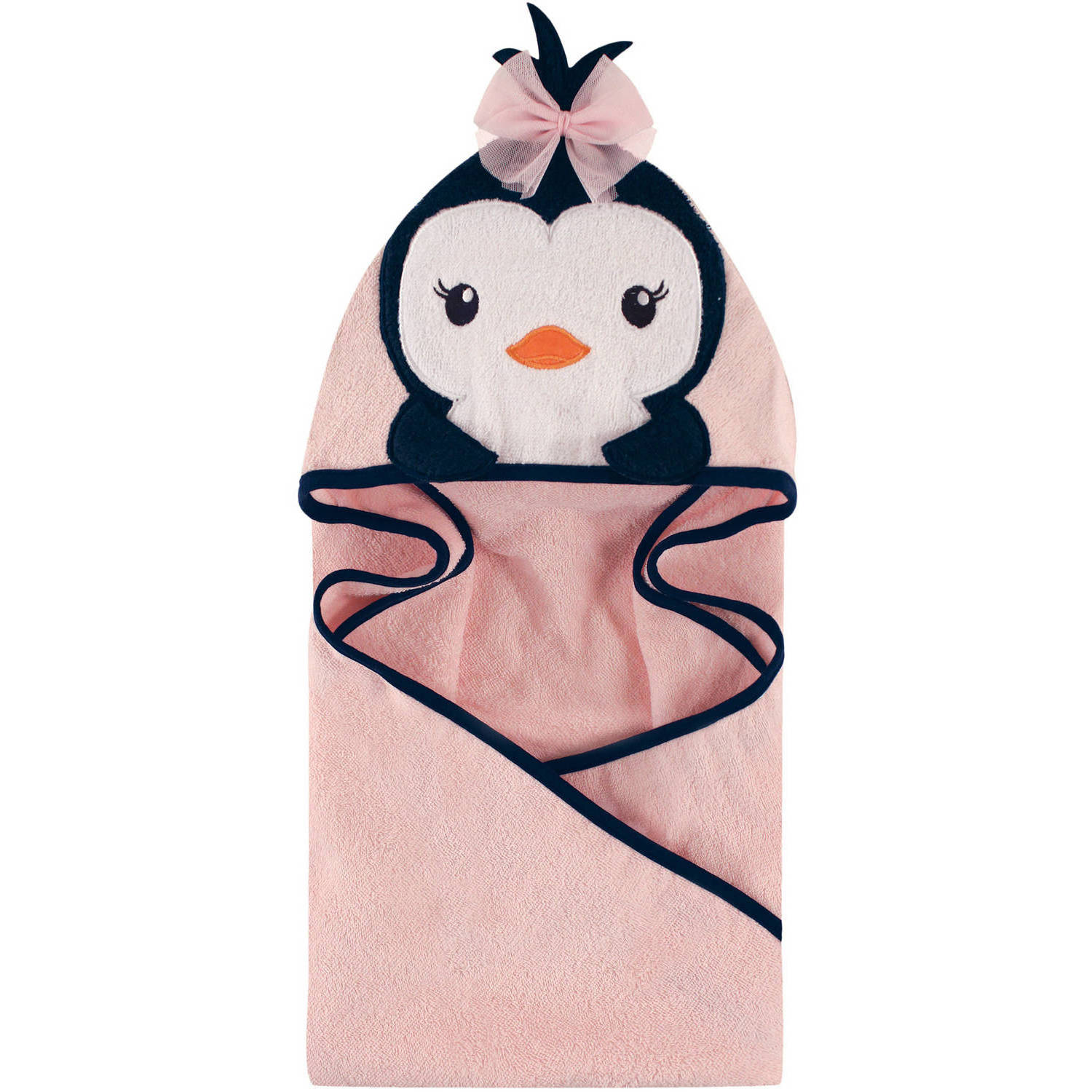 Woven Terry Animal Hooded Towel, Miss Penguin
