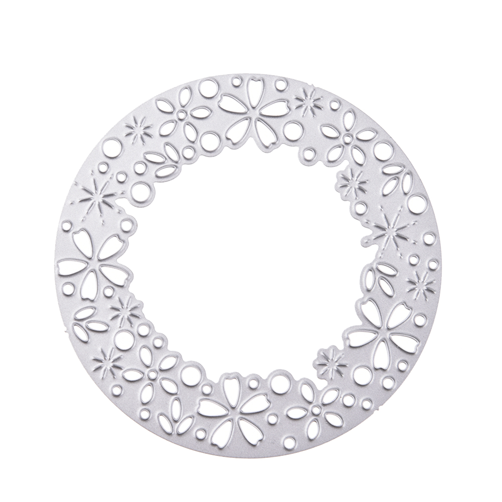 New 2018 Wreath Metal Cutting Dies Stencil DIY Scrapbooking Embossing Album Paper Card Craft Style:1804143