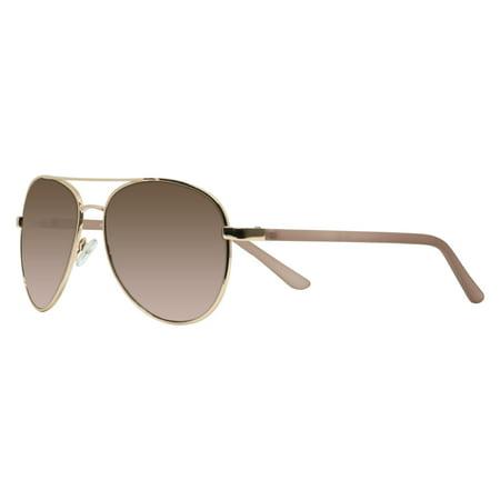 Rose Gold Metal Sunglasses (Piranha