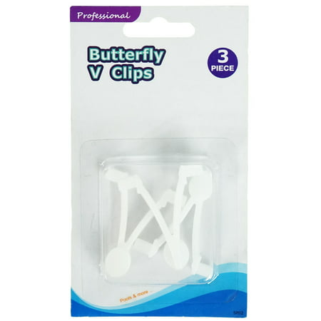 - Set of 3 White EZ Quick Snap Replacement Butterfly Clips for Swimming Pool Pole Attachments 2