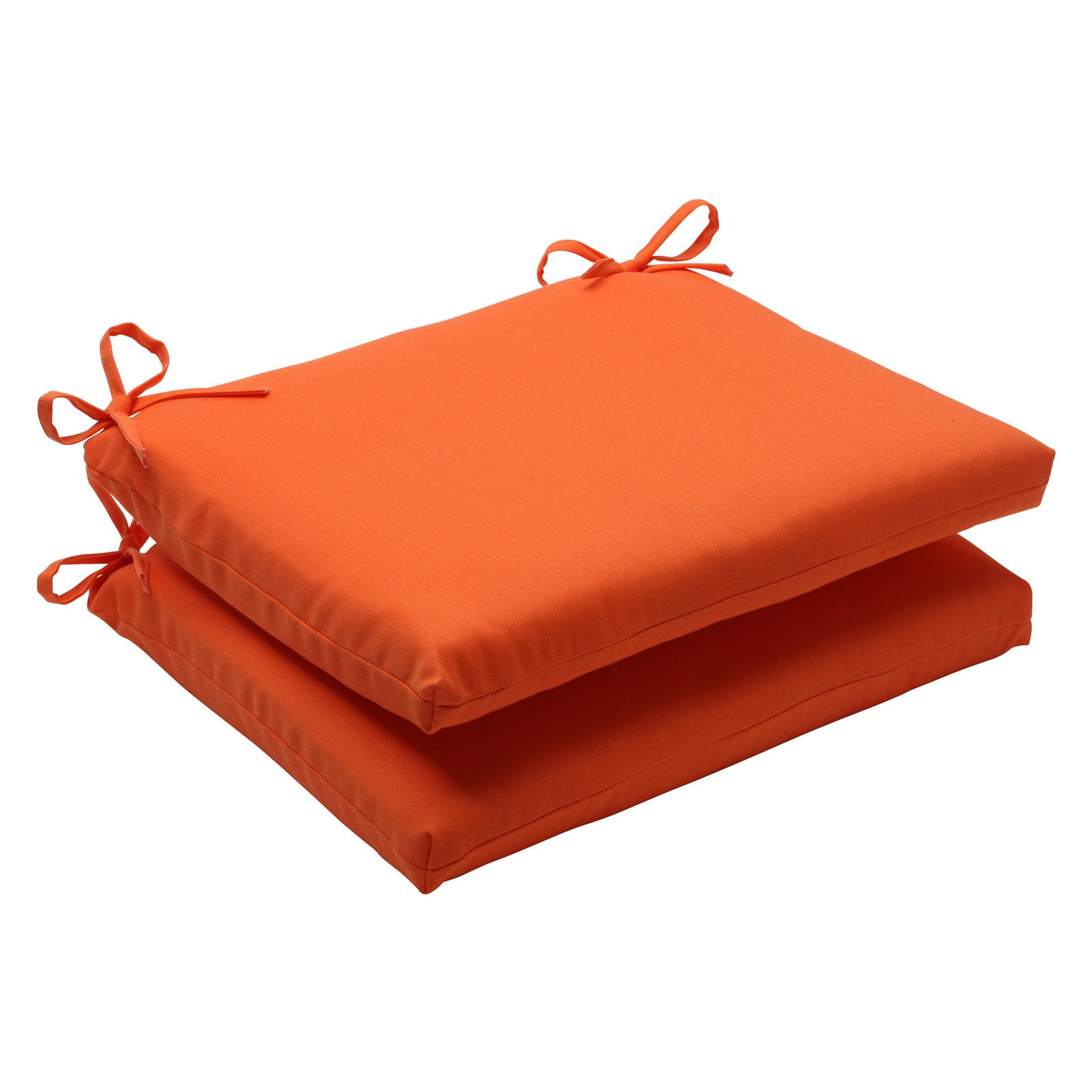 Pillow Perfect Solid Squared Corners Chair Seat Cushion Set of 2 by Pillow Perfect