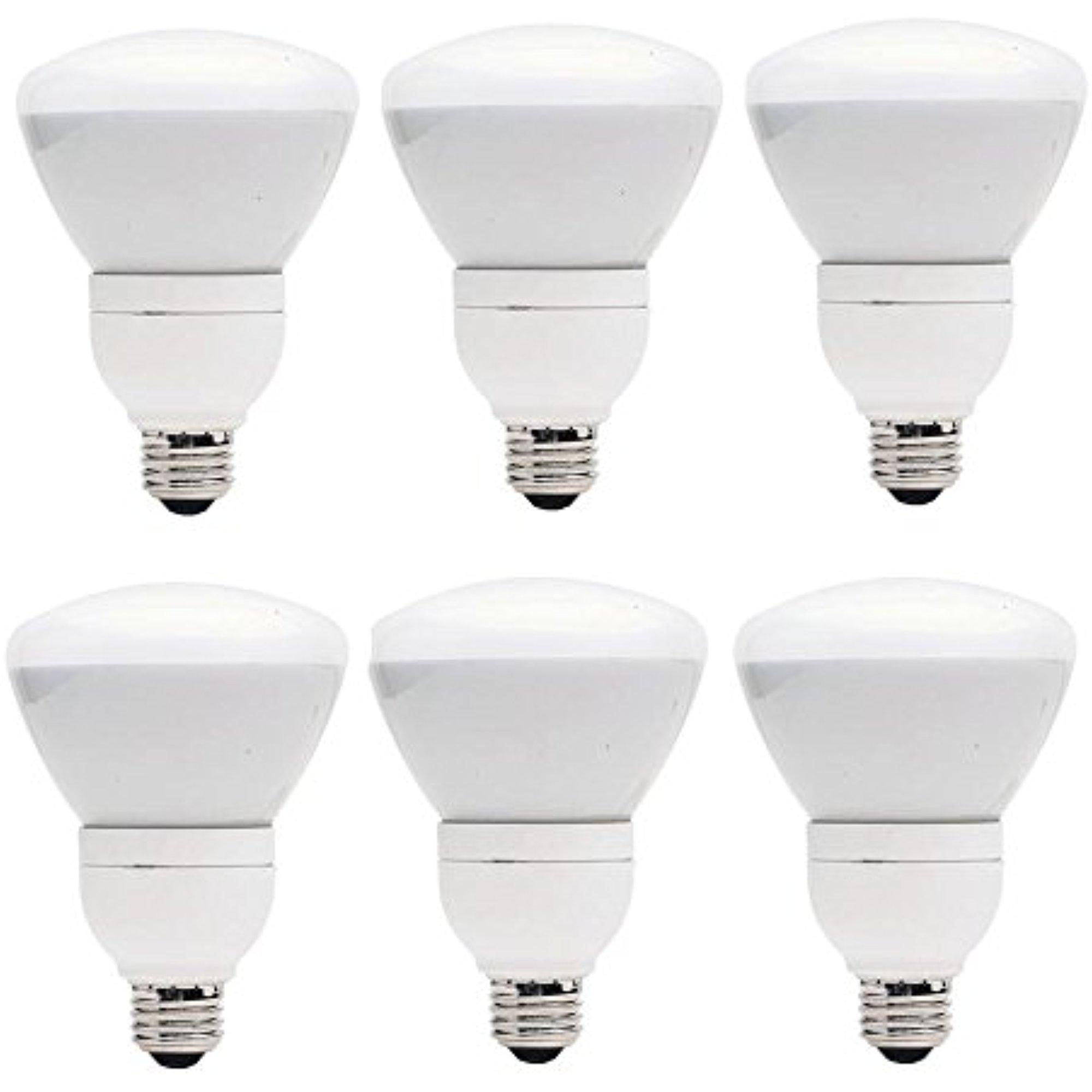 Set of 6 GE Lighting CFL 15W (65W Equivalent) R30 Soft Wh...